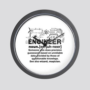 Engineer Funny Definition Wall Clock